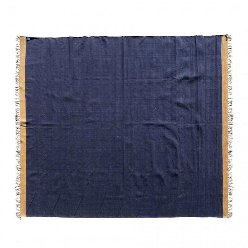 COTTON BLUE BROWN EDGE DURRIE