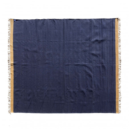 Durrie azul y marrón 400x270cm