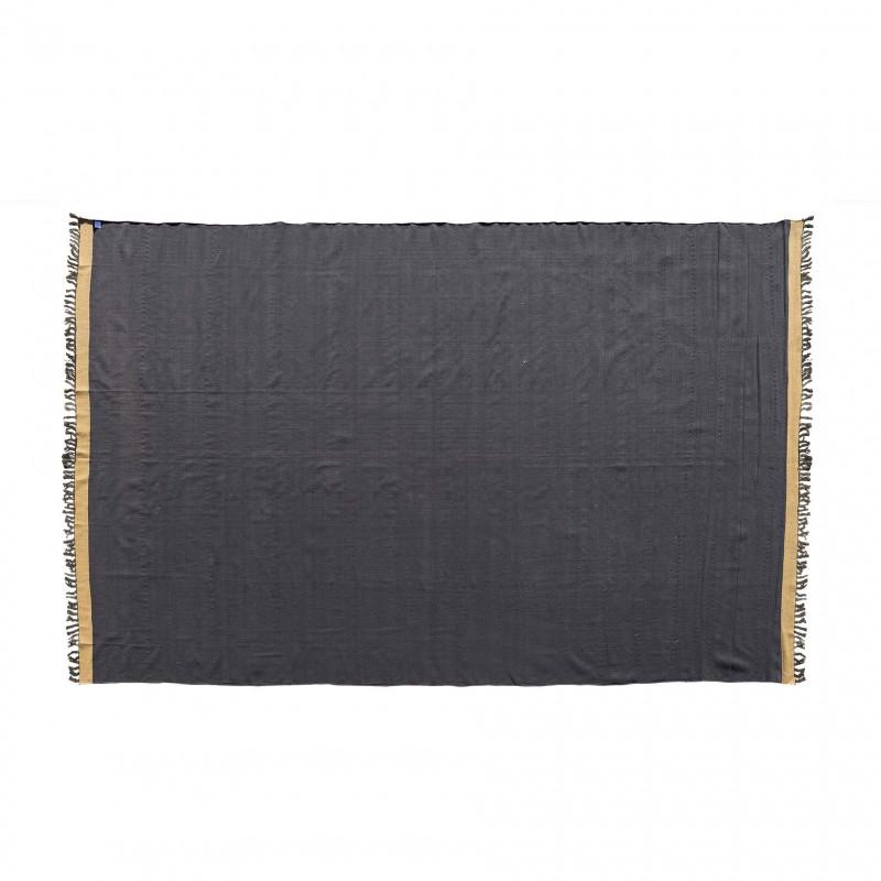 BLACK COTTON  BROWN EDGE DURRIE