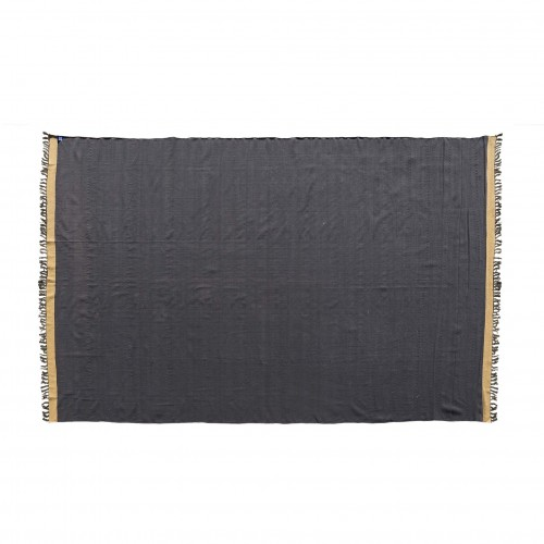 400x270cm black and beige durrie