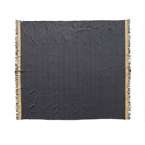 Durrie negro y beige 285x270cm - BECARA