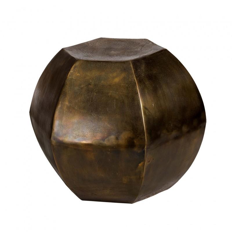 Hexagonal brass stool