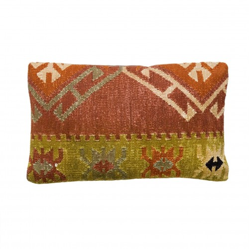 50x30cm marooned ochre and green lemon cushion