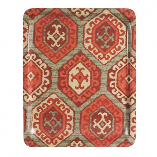 Large red rhombus tray