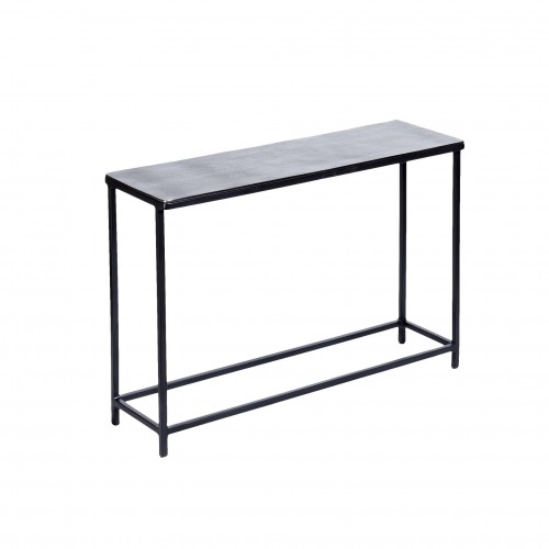 Small black nickel finish Club console