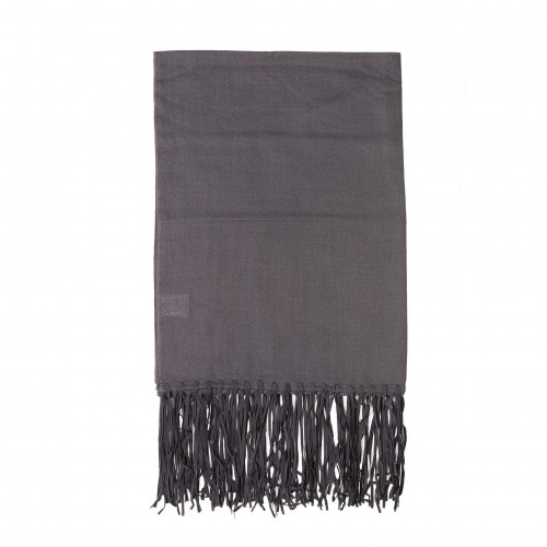 220x70cm ash grey leather throw