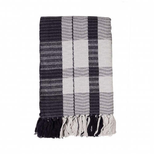 180x130cm grey square throw