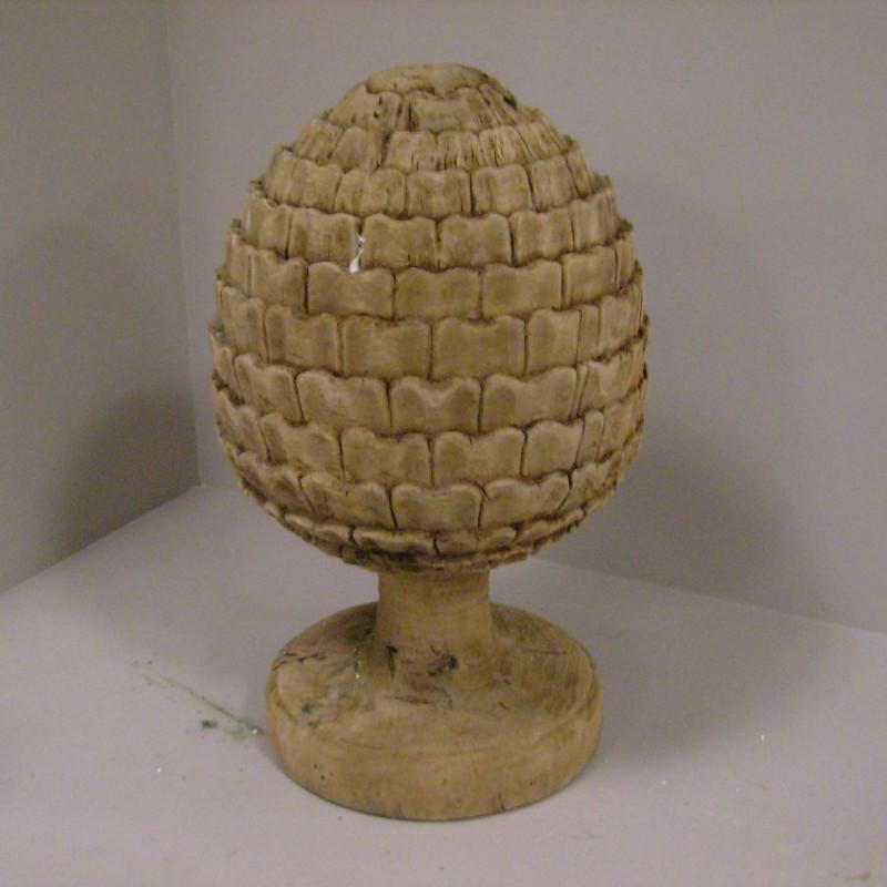Teak wooden pineapple
