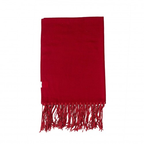 220x70cm burgundy leather throw