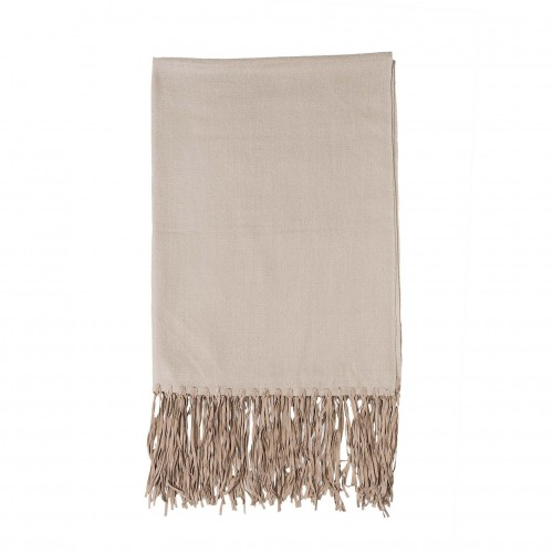 220x70cm beige leather throw