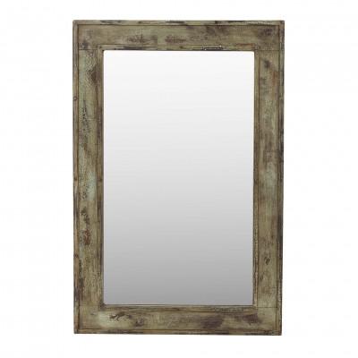 Espejo de madera y hierro 85x127,5cm