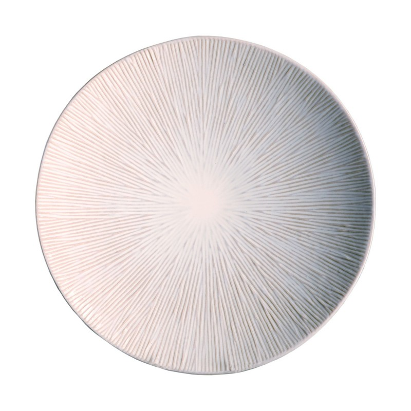 Cream Spin shallow plate
