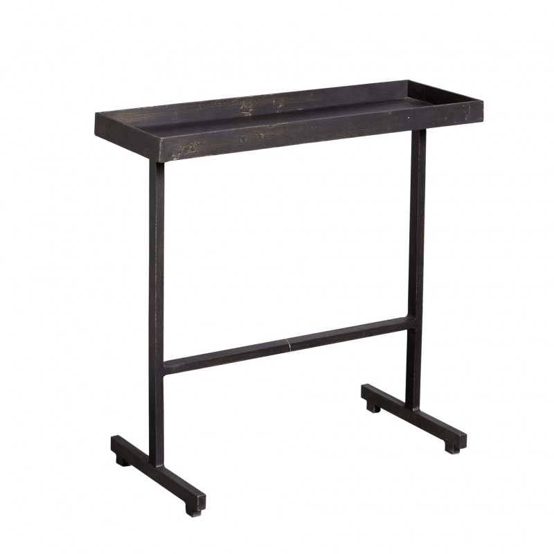 Narrow golden-black side table