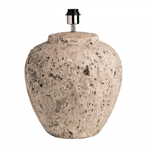 Ø35cm beige rounded stone table lamp