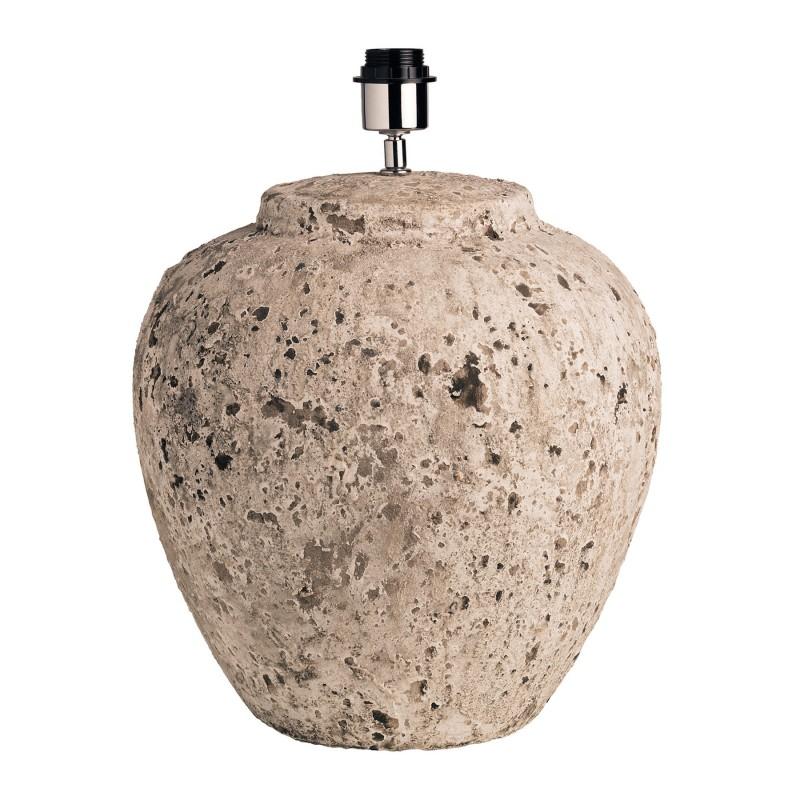 Lámpara de mesa redonda de piedra beige Ø35cm - BECARA