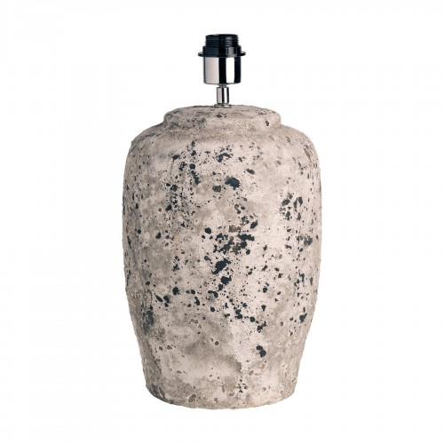 Grey stone table lamp