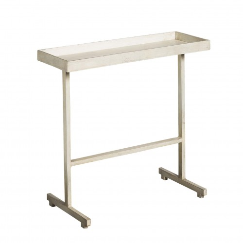 White side table with tray