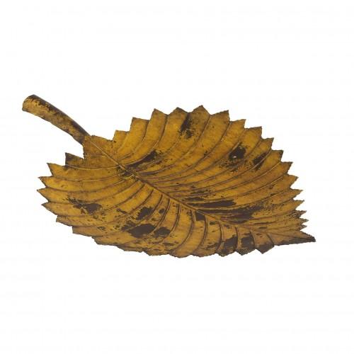 Yellow iron leaf