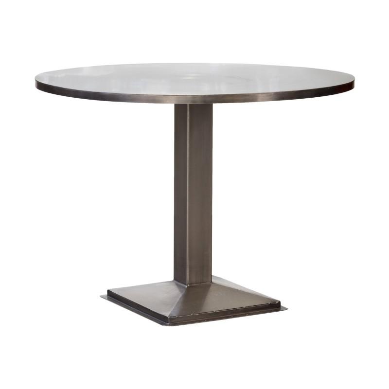 Mesa de comedor redonda de metal