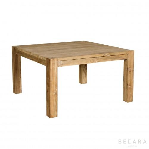 Mesa de comedor de teca cuadrada