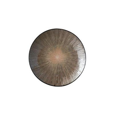 Fuente redonda Spin marrón