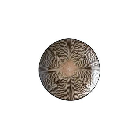 Brown round Spin platter