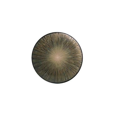Brown Spin dessert plate