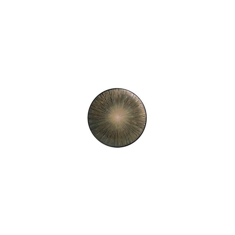 Plato postre Spin marrón - BECARA