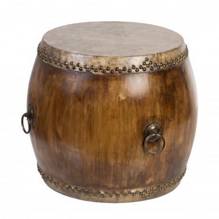 Mesa tambor pequeña Unique natural
