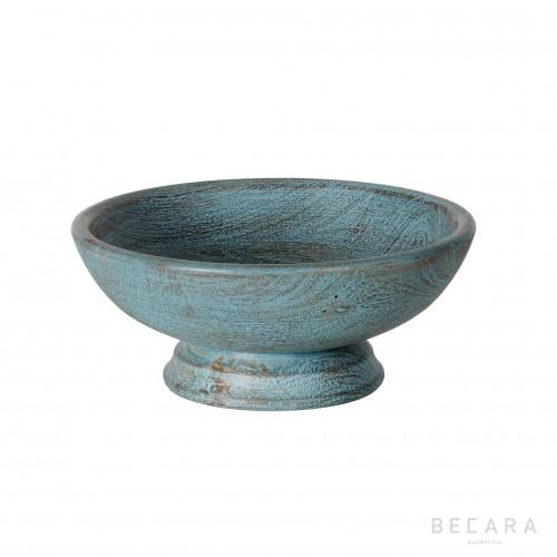 Bowl de madera azul Ø25cm