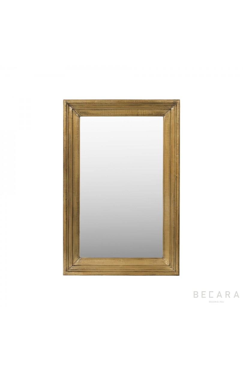 Espejo con revestimiento de lat n 81x122cm espejos y for Molduras para espejos online