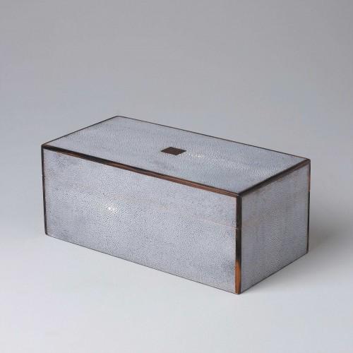 Shagreen box with ebony edge