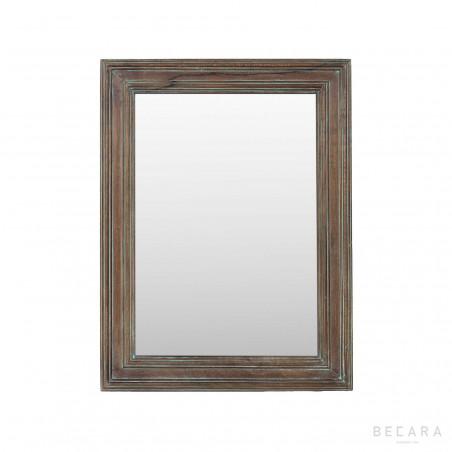 Espejo de madera marrón 60x84cm