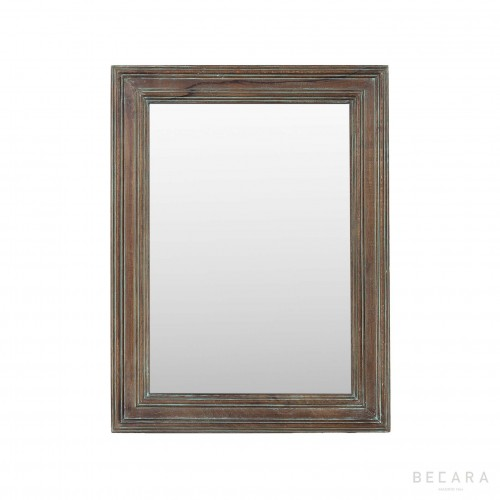 60x84cm brown wooden mirror