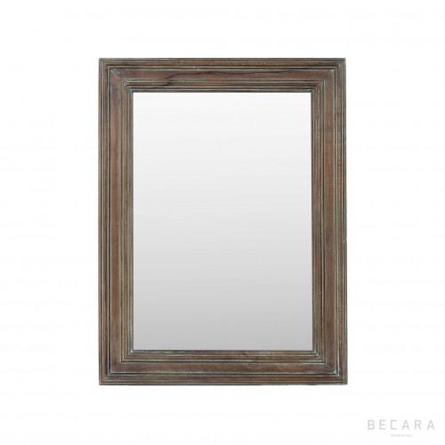 Espejo de madera marrón 60x84cm - BECARA
