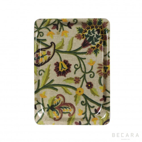 Small coloured flowers tray