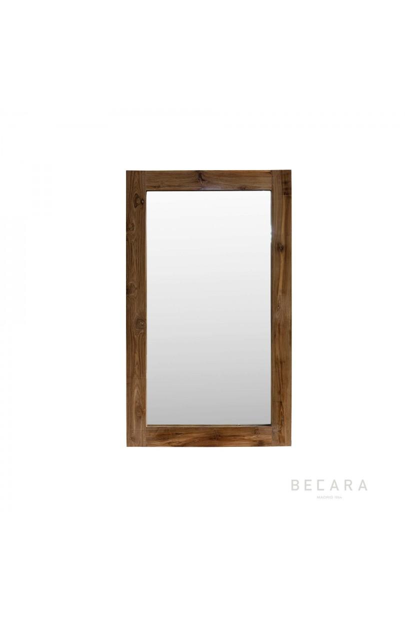 Espejo de teca 90x150cm espejos y cuadros en becara for Espejo 50 x 150