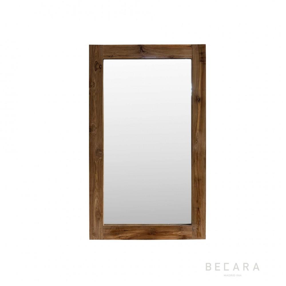 90x150cm teak wooden mirror becara tienda online for Espejo 50 x 150