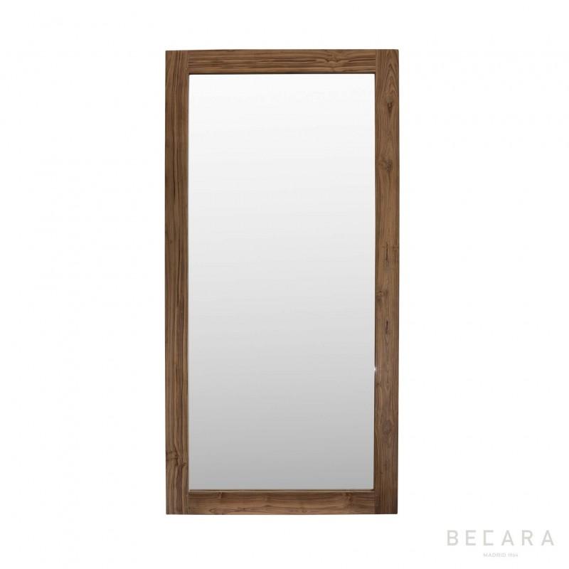 Espejo de teca 100x200cm - BECARA