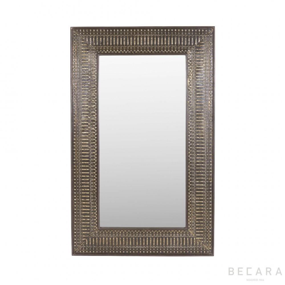 Espejo de metal grabado 100x160cm espejos en becara for Espejo 60 x 100