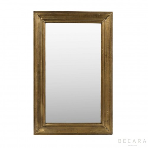 60x90cm golden metal mirror