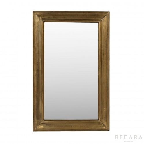 Espejo de metal dorado 60x90cm
