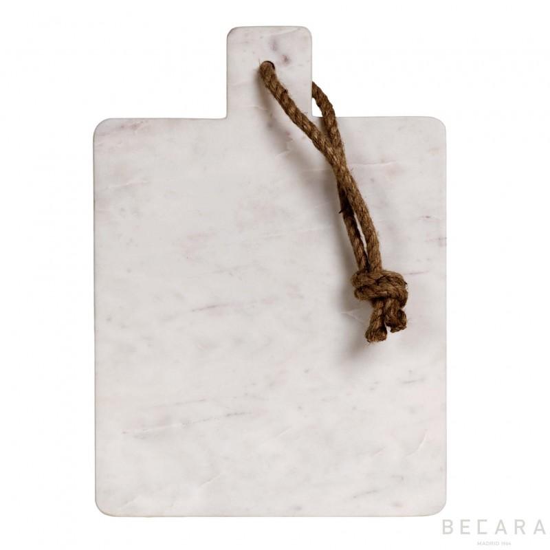 Tabla de mármol blanco con cuerda - BECARA