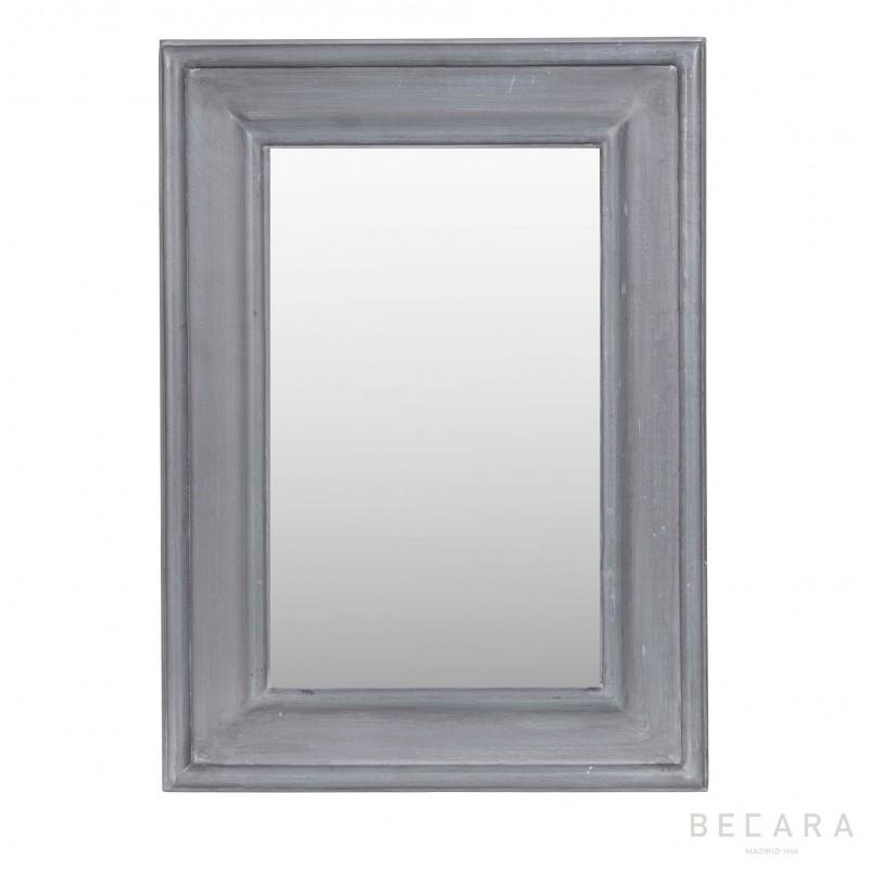 Espejo gris azulado 42x56cm - BECARA