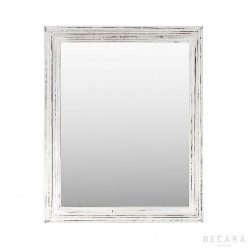 Espejo madera blanca 68x84cm