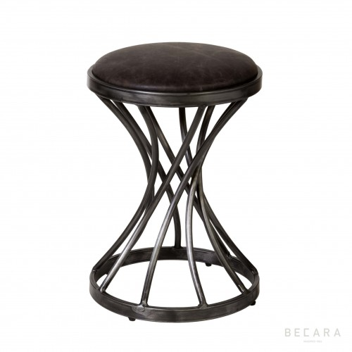 Elephant leather stool