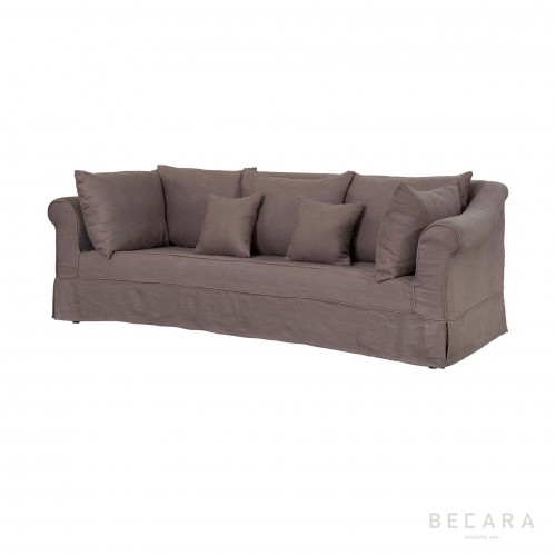 Brown linen Claudia sofa