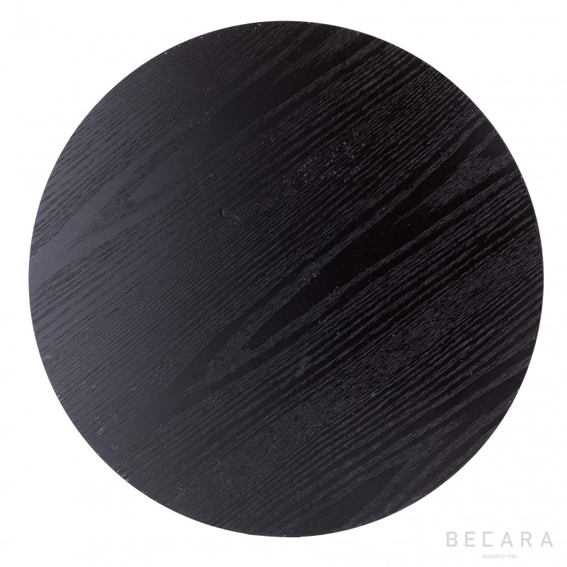 BLACK  ROUND SINGLE TABLECLOTH
