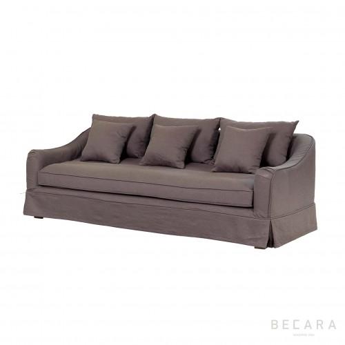 Sofá Agatha lino marrón
