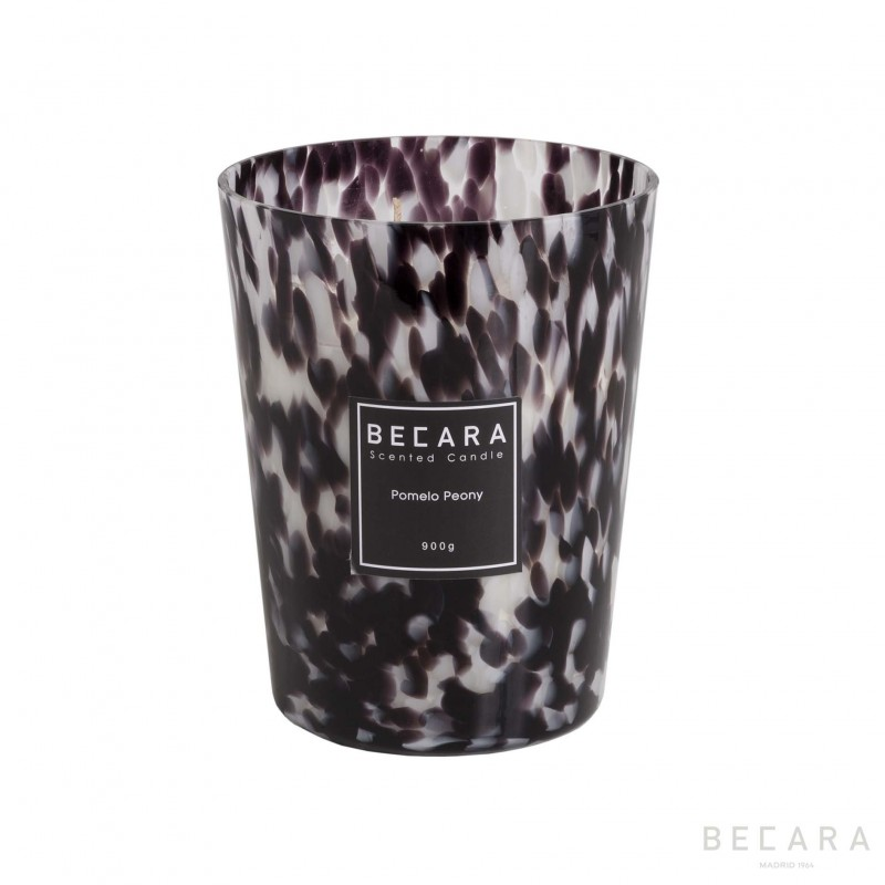 16cm white and black Carey candle